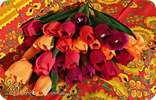 Добрый день, дорогие соседи! Приветствую Вас, рада видеть Вас в гостях)) Хочу показать свои новые работы. Впервые делала тюльпаны, понравилось. фото 2