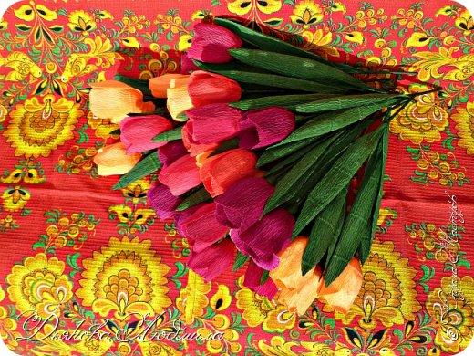 Добрый день, дорогие соседи! Приветствую Вас, рада видеть Вас в гостях)) Хочу показать свои новые работы. Впервые делала тюльпаны, понравилось. фото 3