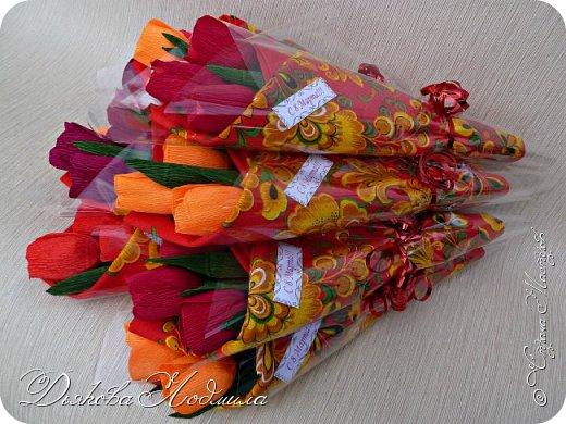Добрый день, дорогие соседи! Приветствую Вас, рада видеть Вас в гостях)) Хочу показать свои новые работы. Впервые делала тюльпаны, понравилось. фото 4