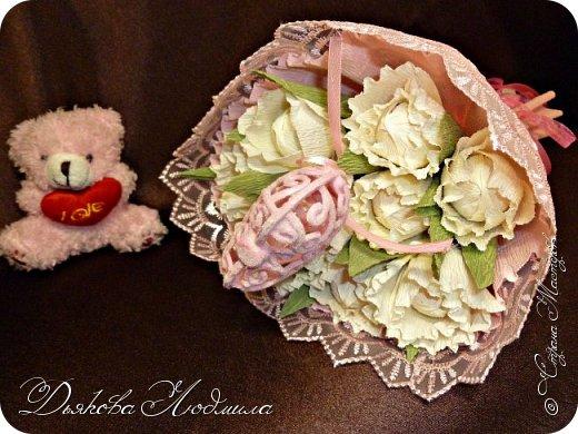 Добрый день, дорогие соседи! Приветствую Вас, рада видеть Вас в гостях)) Хочу показать свои новые работы. Впервые делала тюльпаны, понравилось. фото 5