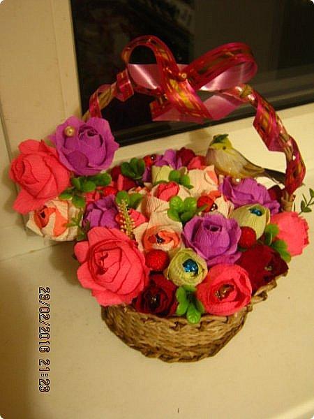 сладкая плетеная корзиночка