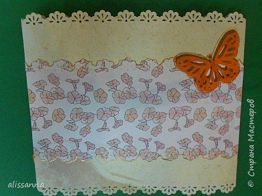 Доброе время суток...жители Страны...От нечего делать решила утилизировать остатки бумаги... и вот такая открыточка у меня получилась...)))))))) Не судите строго...) фото 5