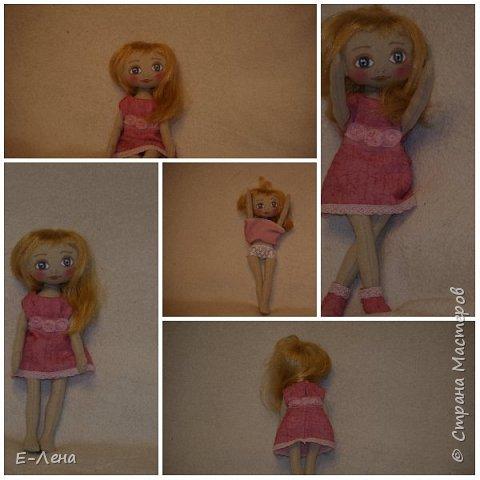 Первая куколка, сшита по заказу старшенького сыночка для его подружки:) фото 1