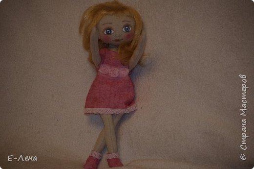 Первая куколка, сшита по заказу старшенького сыночка для его подружки:) фото 2