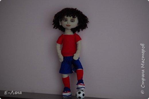 Первая куколка, сшита по заказу старшенького сыночка для его подружки:) фото 4