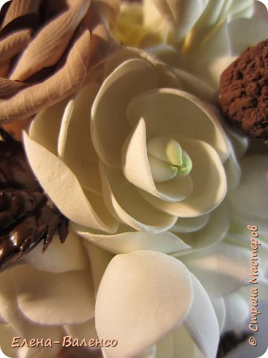 Вот такой ванильно-шоколадный топиарий слепился долгими зимними вечерами. фото 4