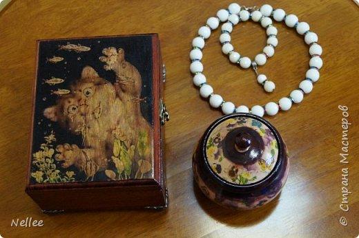 Сделала для доченьки 2 шкатулочки. Использовала деревянные заготовки для декупажа. фото 1