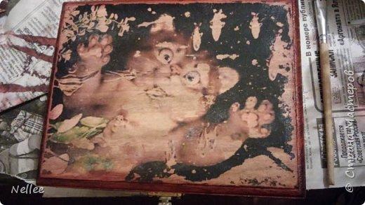 Сделала для доченьки 2 шкатулочки. Использовала деревянные заготовки для декупажа. фото 11