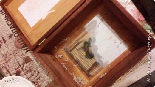 Сделала для доченьки 2 шкатулочки. Использовала деревянные заготовки для декупажа. фото 15