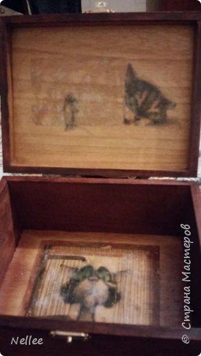 Сделала для доченьки 2 шкатулочки. Использовала деревянные заготовки для декупажа. фото 16