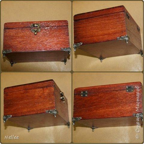Сделала для доченьки 2 шкатулочки. Использовала деревянные заготовки для декупажа. фото 19