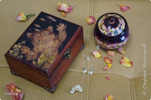 Сделала для доченьки 2 шкатулочки. Использовала деревянные заготовки для декупажа. фото 21