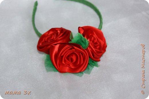 ободок с розами фото 10