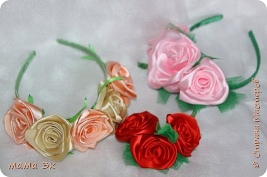 ободок с розами фото 11