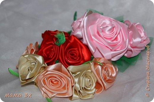 ободок с розами фото 13