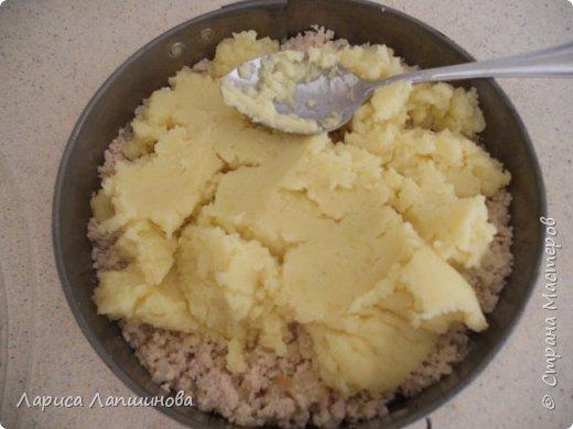 Сегодня я готовила давно забытое мной блюдо. Это картофельная запеканка с мясом. На этот раз у меня из мяса - мясо птицы, а точнее грудки индейки. Итак для запеканки нам понадобится: 1. 7-8 штук средних картофелин 2. грамм 300 любого мяса. 3. 2 средних луковицы. 4. Немного подсолнечного масла для жарки лука и для смазывания формы. 5. Соль, перец по вкусу. 6. 1 яйцо фото 7