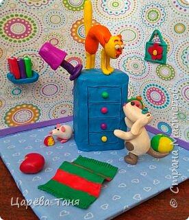"""Здравствуйте!!!! Эту пластилиновую историю я лепила для выставки """"Моя мама кудесница"""" в детский сад. Основной сюжет взяла из книги Рони Орена. Ну а детали - моя фантазия. фото 1"""