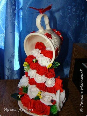 Парящая цветочная чашка фото 1