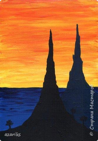 Горы на закате фото 1