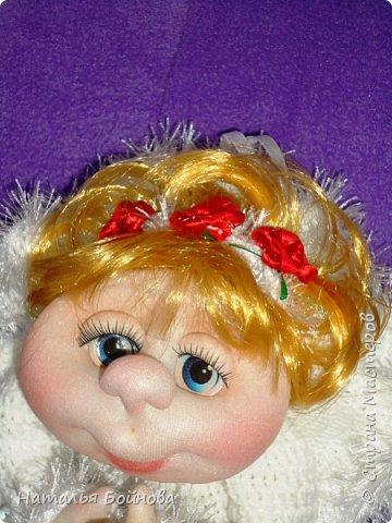 Вот такой Ангелочек в белоснежном платье появился у меня в последний день зимы)))  фото 3