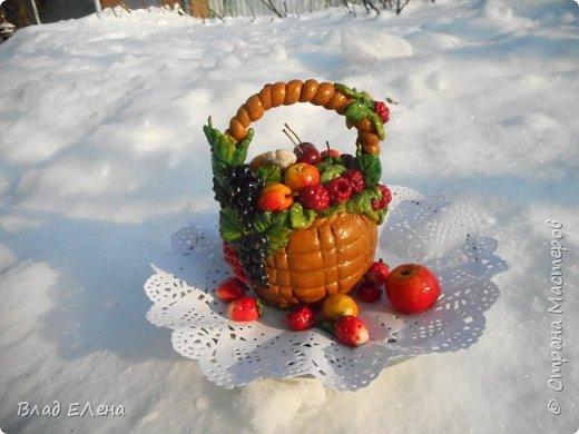 Это мои  фруктовые корзинки к 8 марта. Грибные будут позже. фото 2