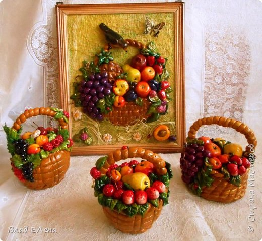 Это мои  фруктовые корзинки к 8 марта. Грибные будут позже. фото 1
