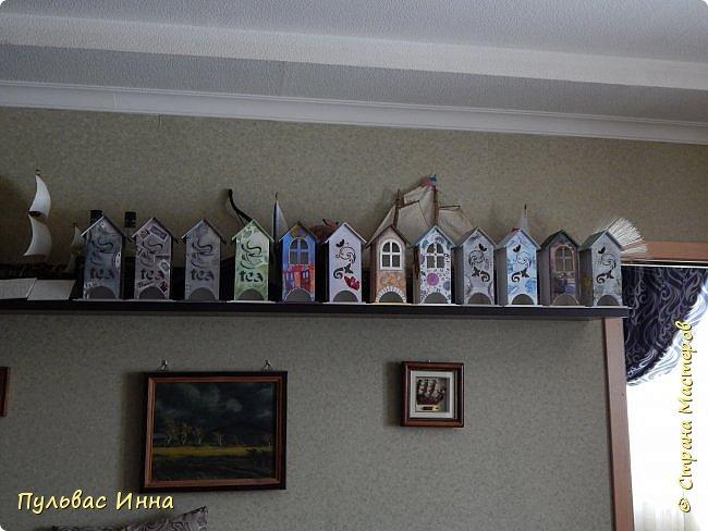 16 чайных домиков... это кошмар! я больше на такие большие заказы соглашаться не буду. Хотелось сделать их разными, и в какой-то момент я поняла что мое воображение устало.и я устала от этих домиков. Какие-то вышли очень симпатичными, а какие-то нет, некоторые переделывала по нескольку раз. фото 1
