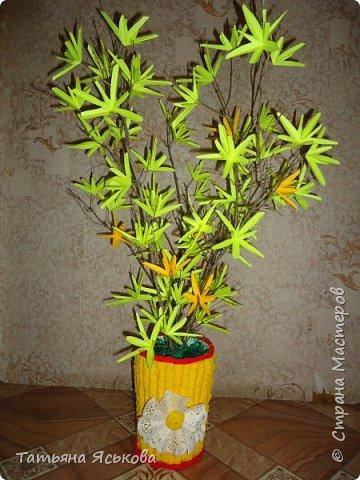 """Всем весенний привет! В феврале мои чалыкушата потрудились на славу. Сделали весеннюю композицию """" Желтый первоцвет"""" фото 1"""