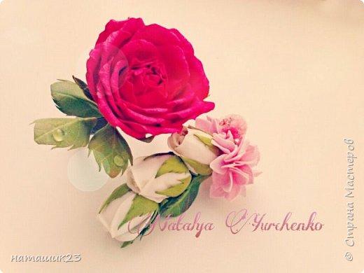 Заколочка и резинка с цветами из Фома фото 1