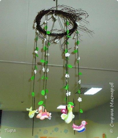 ну вот и весна и можно на смену зимнему мобилю http://stranamasterov.ru/node/981450 повесить весенний фото 1