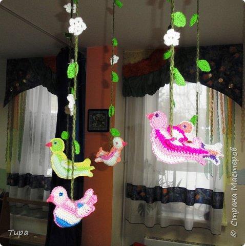 ну вот и весна и можно на смену зимнему мобилю http://stranamasterov.ru/node/981450 повесить весенний фото 2