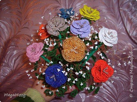 Эти цветочки я плела года 4 назад на Новый Год в подарок крёстной. Идея была мамина, плела же только я))) Видела эти цветочки на просторах СМ, тока я их не правильно собрала, потому что все лепестки расползлись, увы. Но всё равно получилось симпатично! Сильно не ругайте, просто до этого я ещё никогда цветы не плела *покраснел* фото 11