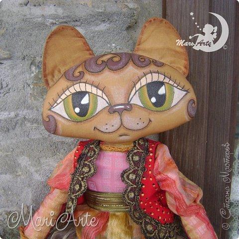 Здравствуйте всем!! Идею такой мордашки у кошечки, я увидела в интернете.  Выкройку сделала сама фото 1