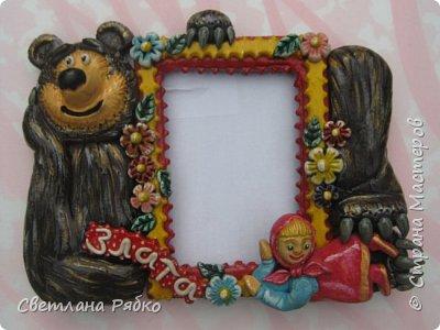 Фоторамочка для девочки Златочки. Идею взяла у d1nara http://stranamasterov.ru/node/542466 фото 1