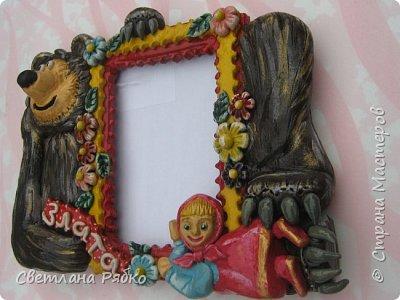 Фоторамочка для девочки Златочки. Идею взяла у d1nara http://stranamasterov.ru/node/542466 фото 4