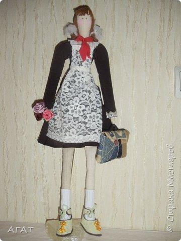 Всем -добрый вечер! Сшила себе очередную куколку, назвала её Ритой. Кукла - воспоминия о школьных годах. фото 9
