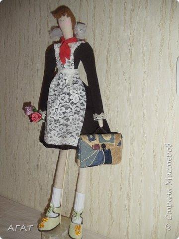 Всем -добрый вечер! Сшила себе очередную куколку, назвала её Ритой. Кукла - воспоминия о школьных годах. фото 1