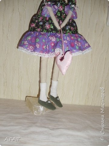 Куколка в ситцевом платье - очередное моё творение. фото 3