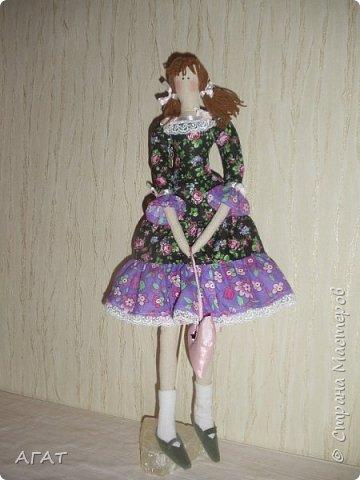 Куколка в ситцевом платье - очередное моё творение. фото 1