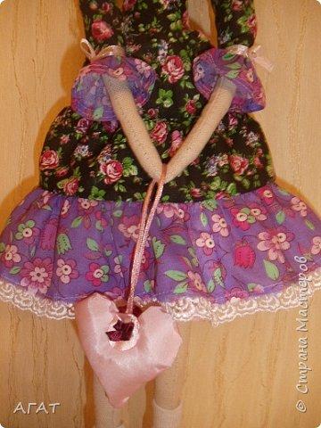 Куколка в ситцевом платье - очередное моё творение. фото 4