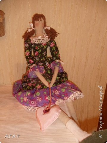 Куколка в ситцевом платье - очередное моё творение. фото 7
