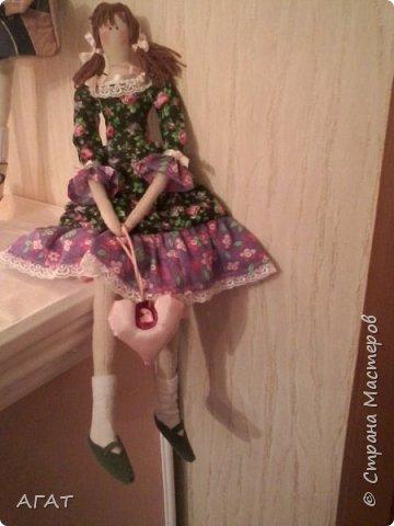 Куколка в ситцевом платье - очередное моё творение. фото 6