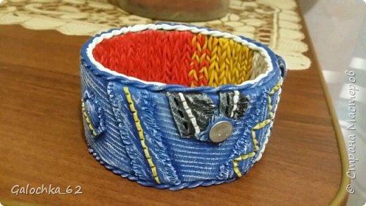 браслет из полимерной глины, сделано по идея инета  фото 1