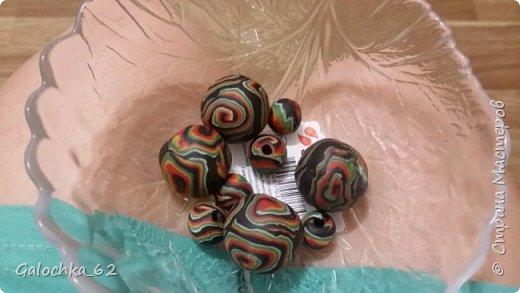 браслет из полимерной глины, сделано по идея инета  фото 3