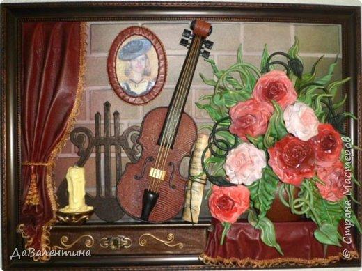 Друзья, представляю Вам еще одну картину со скрипкой «Розы для Эллочки». Картина сделана в подарок на 25-летие для родственницы, которую всегда восхищали мои картины, особенно со скрипками. Картина размером 70смх50см без рамы.  Чтобы подарок был более личным, сделала в картине фантазийный портрет именинницы.  А теперь фото поэтапного преображения картины. Без описания, думаю и так всё будет понятно!  фото 10