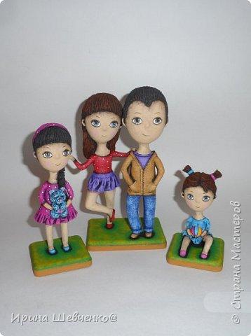 Семья по фото, в мультяшном стиле))) фото 4