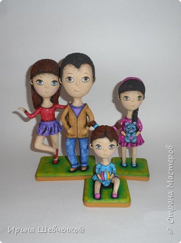 Семья по фото, в мультяшном стиле))) фото 1