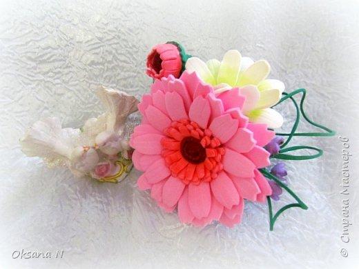 "Заколка из фома ""Розы"" фото 1"