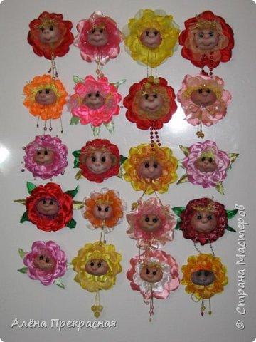 Цветочки-магниты. фото 26