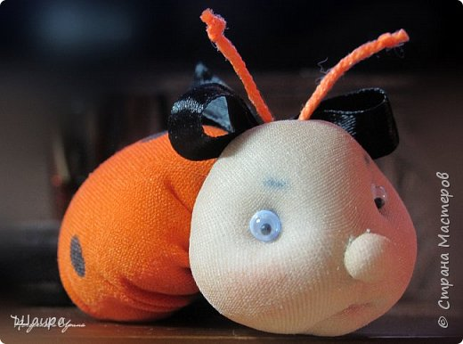 Идею таких божьих коровок подхватила у Маргариты http://stranamasterov.ru/user/383086. Подумала, что тоже неплохо было бы показать деткам.  Принцип-то схож с куколкой-благополучницей.  Пусть будет Игольница! фото 5
